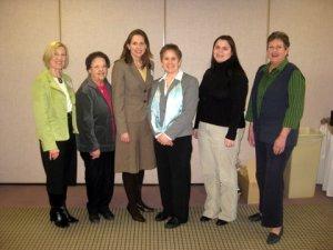 Kate Farrar with MI AAUW members