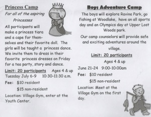 Gender Stereotypes at Summer Camp