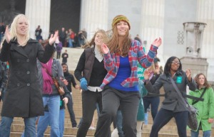 Flash Mob for Equal Pay, at the Lincoln Memorial in Washington D.C.
