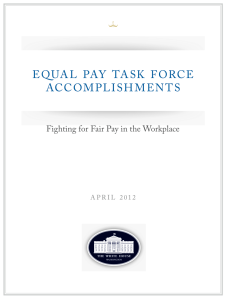 White House Equal Pay Task Force Report