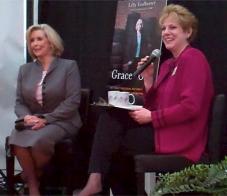 Lilly Ledbetter (left) with AAUW Executive Director Linda Hallman