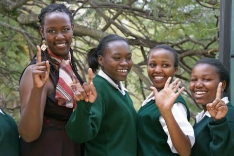 Wanjiru Kamau-Rutenberg with scholars