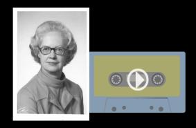 Alice Beeman, narrator of an AAUW This Beleaguered Earth radio public service announcement