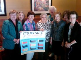 AAUW members at the Republican National Convention in Tampa, Florida