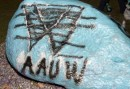 AAUW UM-Dearborn members painted the University rock with AAUW's logo