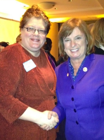 AAUW Public Policy Director Lisa Maatz and New Hampshire Representative Carol Shea-Porter