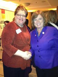 AAUW Director of Public Policy Lisa Maatz with Rep. Carol Shea-Porter (D-NH)