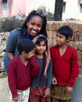 Taaj with children